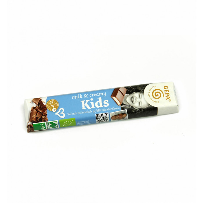 Bio Schokoriegel milk creamy kids