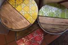 Hochwertige Upcycling-Beistelltische aus Burkina Faso (ab 135 €)